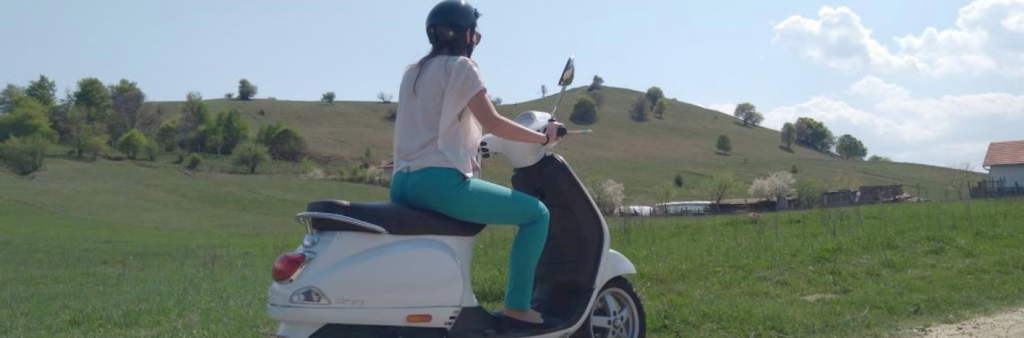 Rent a Vespa Cluj thru a journalist eyes